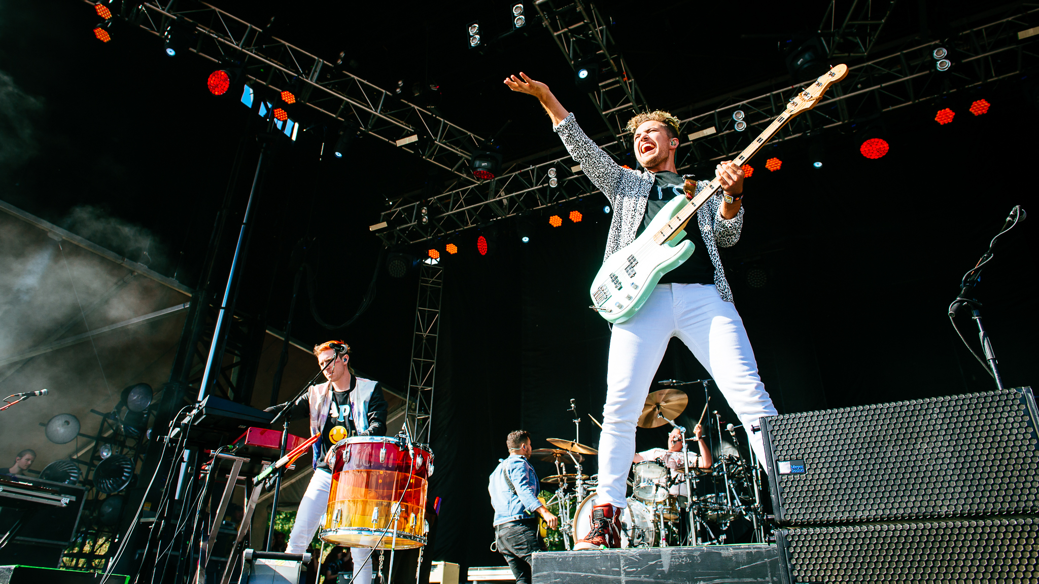 Walk the Moon turned in a set in front of a crowd of thousands at Lolllapalooza on August 1, 2015.