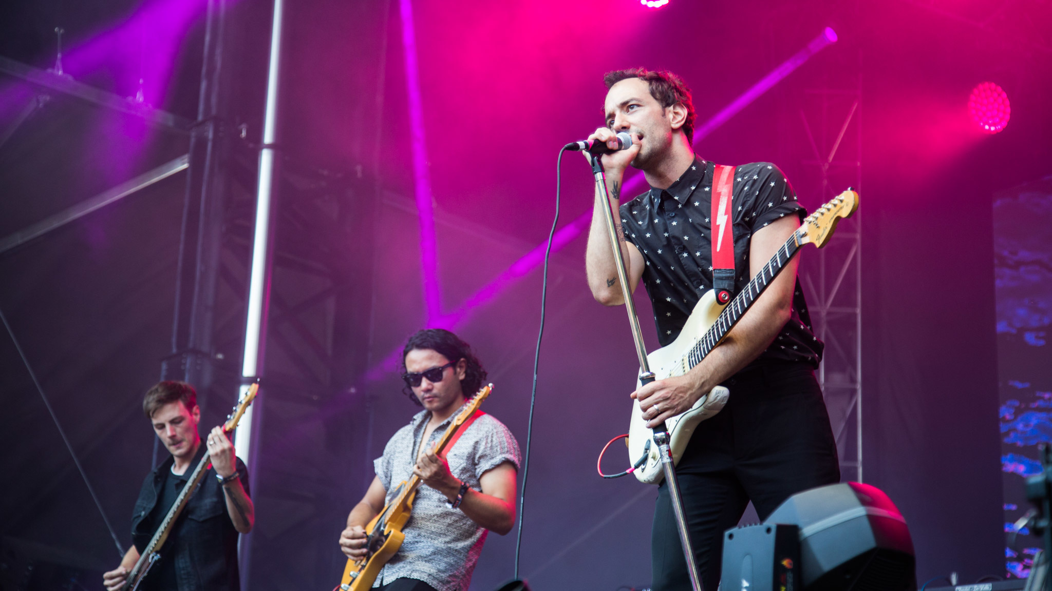 Albert Hammond Jr. hit the stage in Grant Park on the final day of Lollapalooza on August 2, 2015.