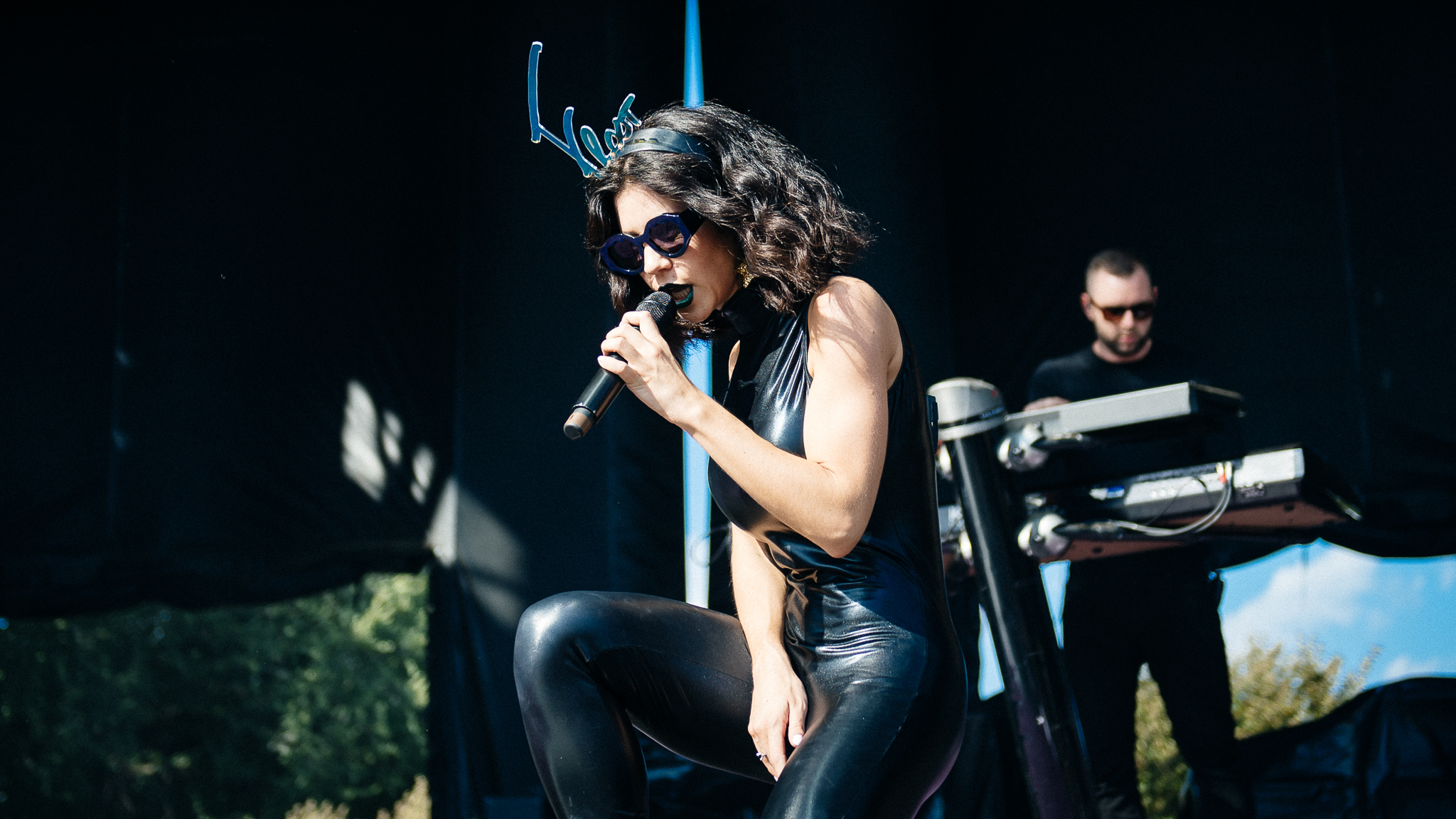 Marina and The Diamonds hit the stage in Grant Park on the final day of Lollapalooza on August 2, 2015.