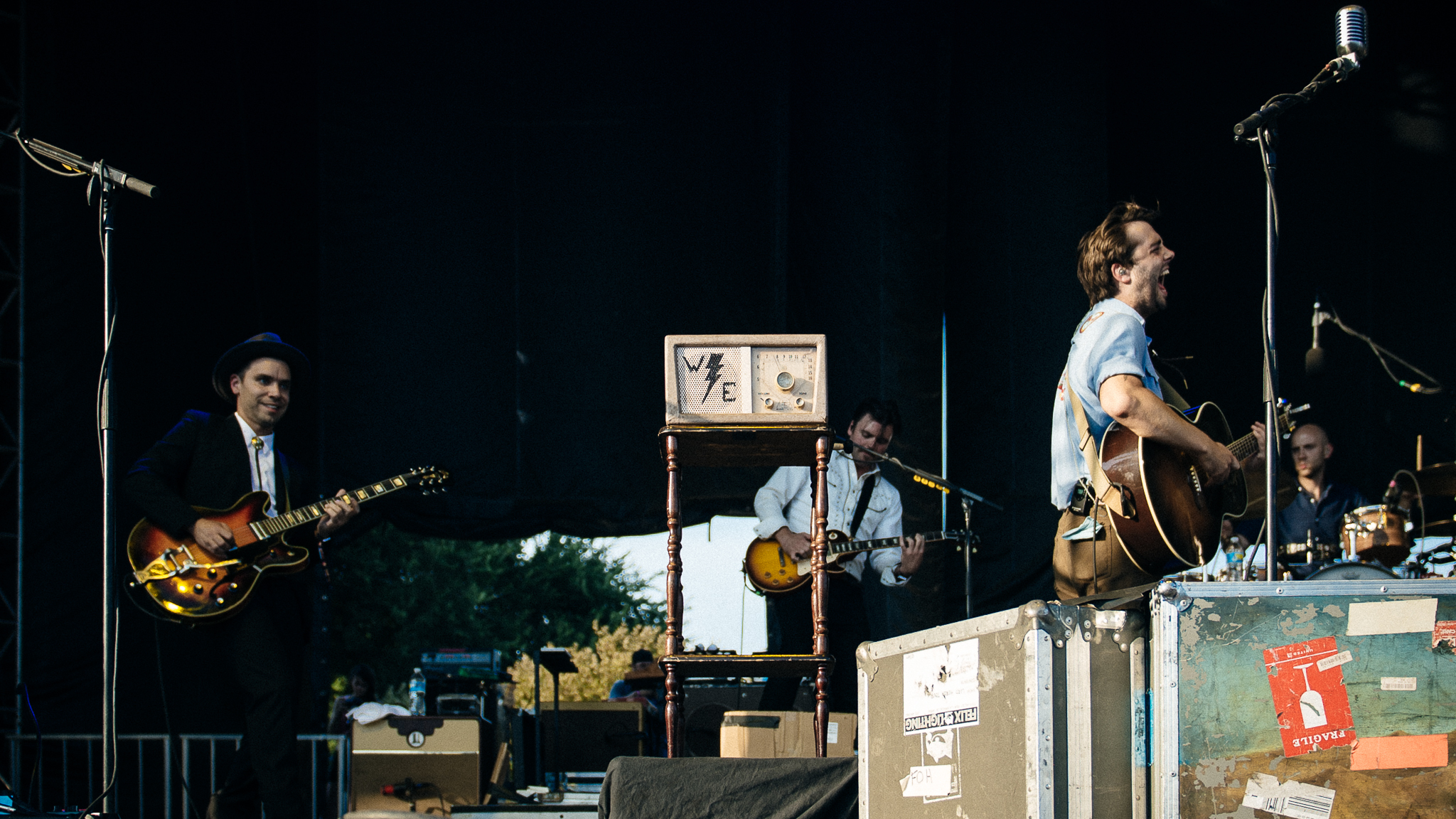 Lord Huron hit the stage in Grant Park on the final day of Lollapalooza on August 2, 2015.