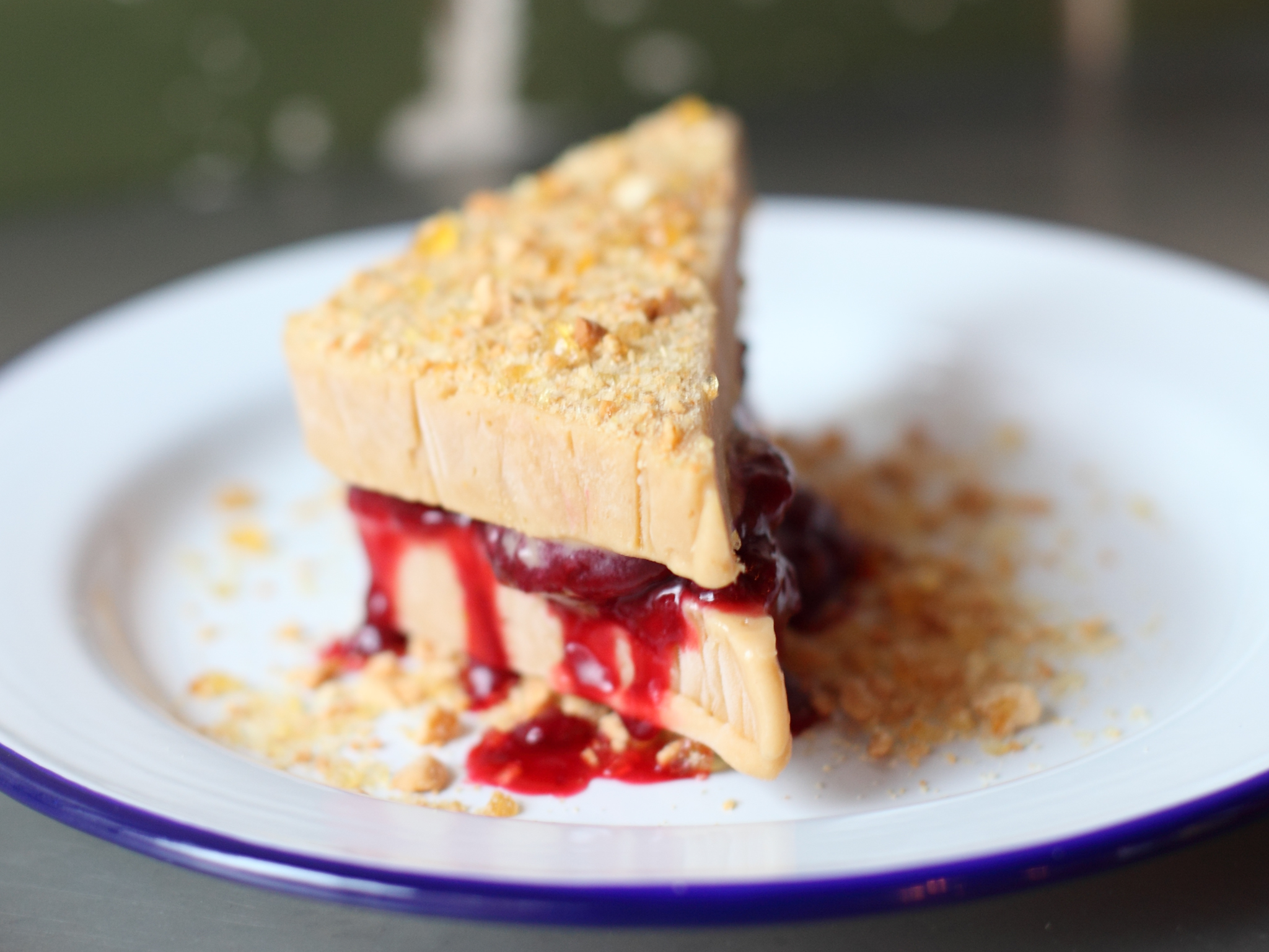 Peanut butter and jelly ice cream sandwich at Spuntino