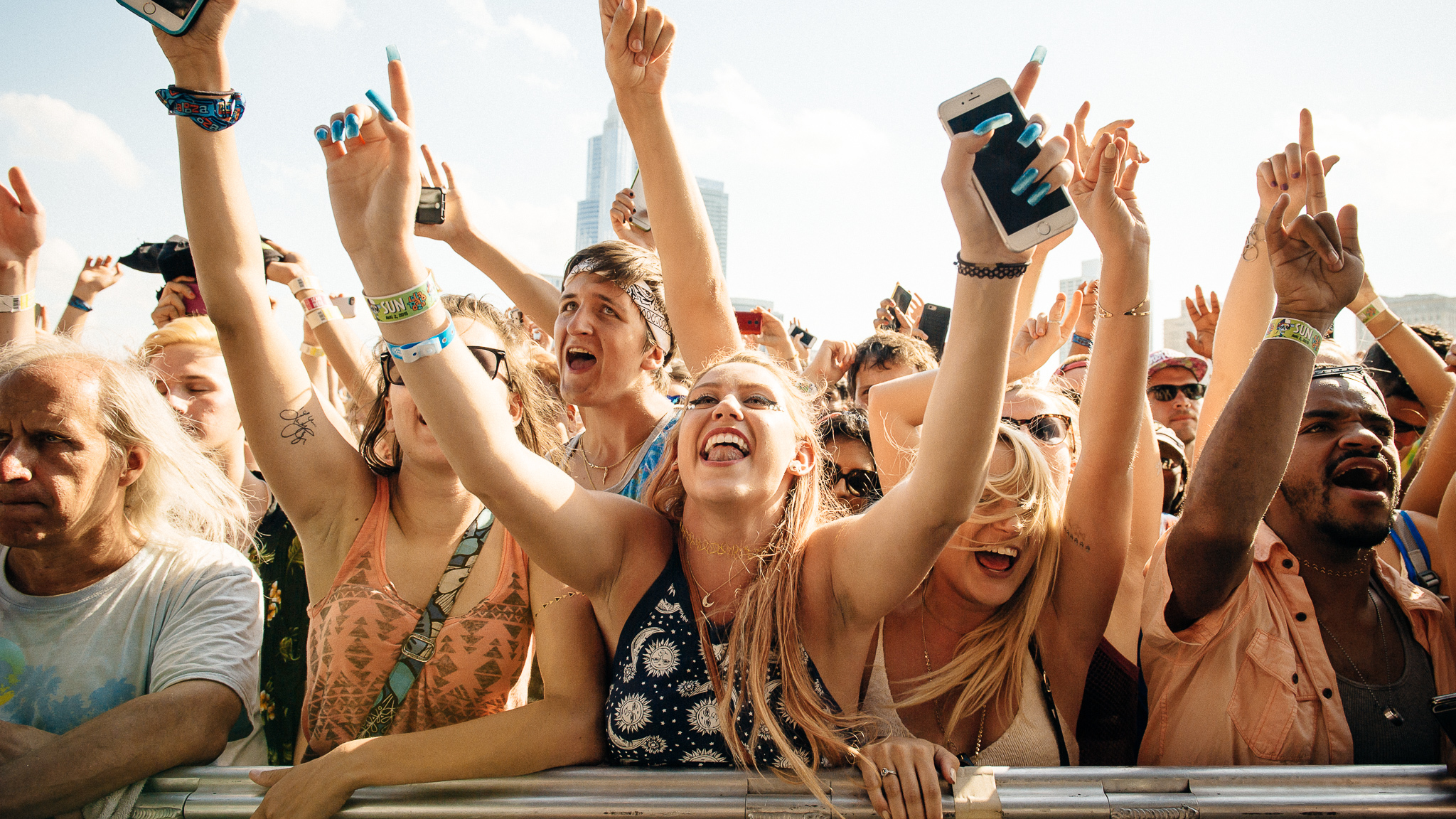 Lollapalooza 2015, Sunday: Faces in the crowd