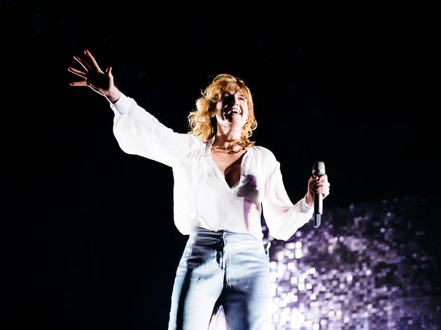 Florence + The Machine hit the stage in Grant Park on the final day of Lollapalooza on August 2, 2015.