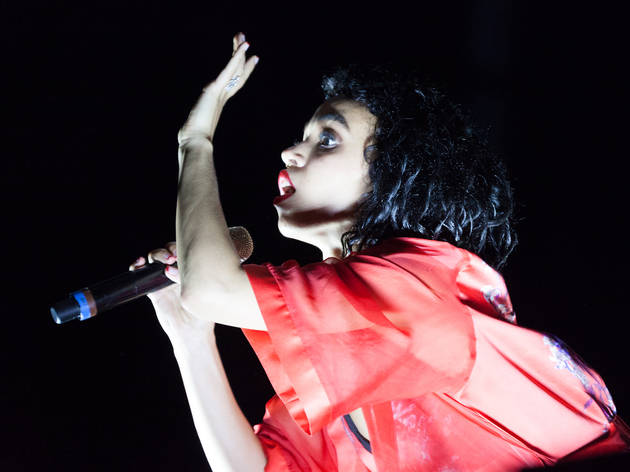 FKA Twigs hit the stage in Grant Park on the final day of Lollapalooza on August 2, 2015.