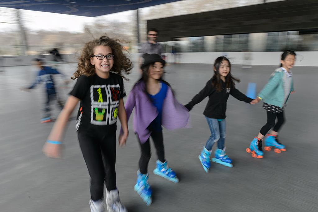 Whirl around the LeFrak Center roller rink