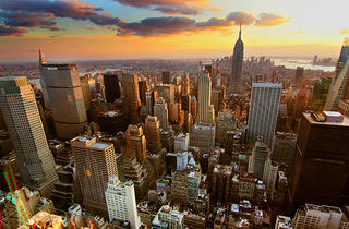 New York  Sunset - From Rockefeller Center