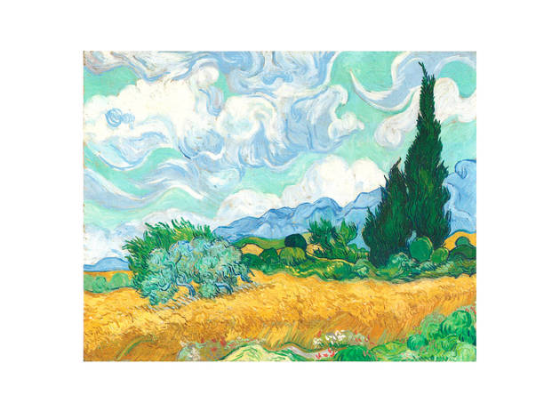 'A Wheatfield, with Cypresses', 1889, by Vincent van Gogh