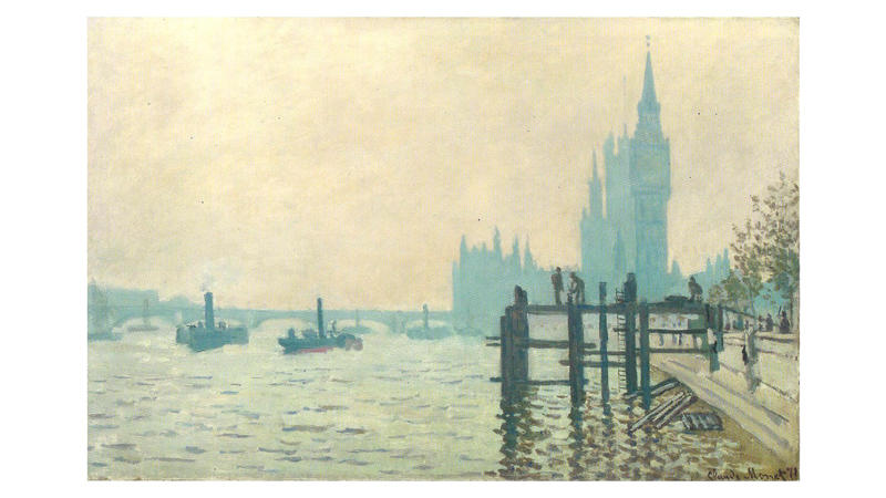 'The Thames Below Westminster', 1871, by Claude Monet