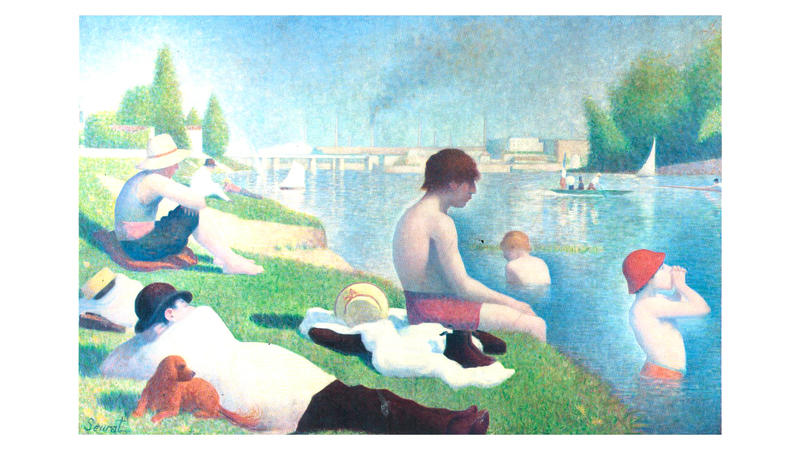 'Bathers at Asnières', 1884, by Georges Seurat