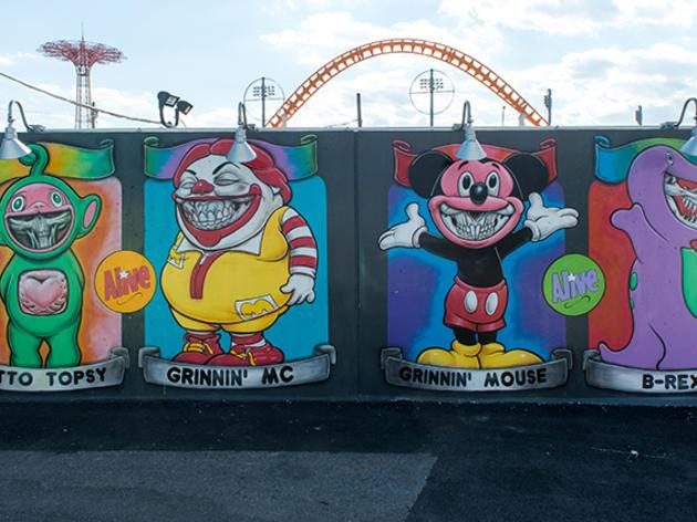 Behold Coney Island's massive display of street art
