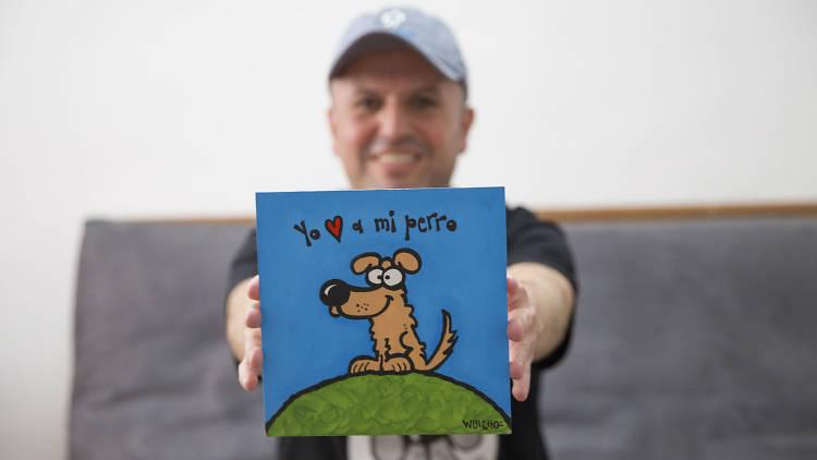 Wuicho Pérez Gay creador de Canicaturas