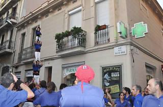 Festa Major de Gràcia, Baixada del Pilar Caminat dels Castellers de la Vila de Gràcia