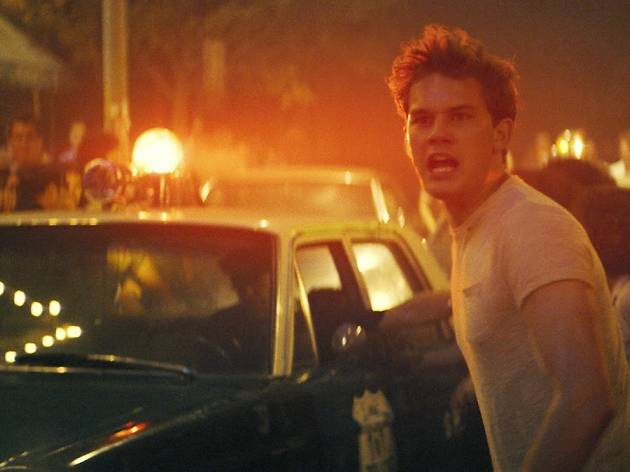 Jeremy Irvine in a production still from Stonewall