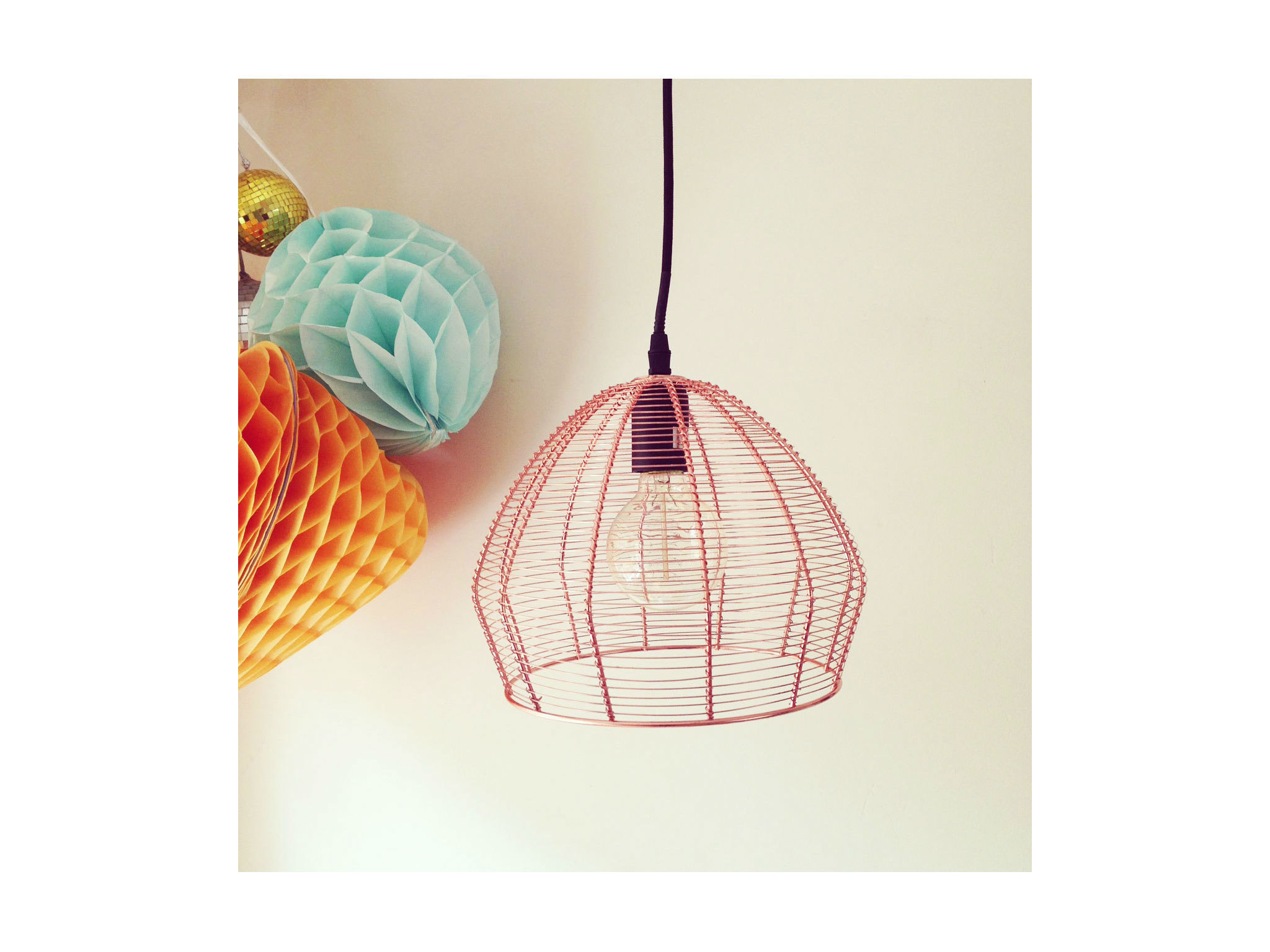 Copper Wire Ceiling Pendant Light