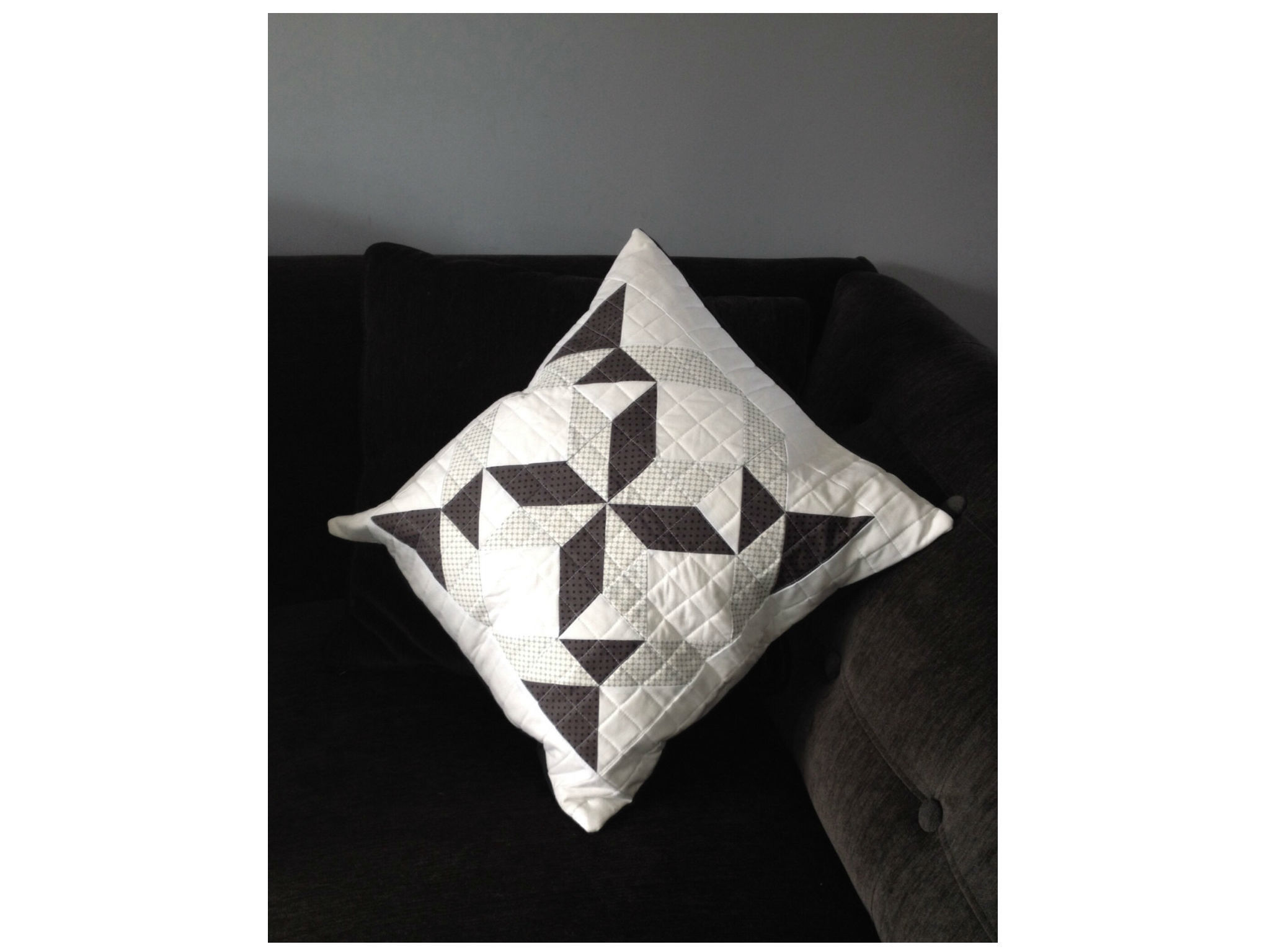 Handmade Quilted Cushion Cover