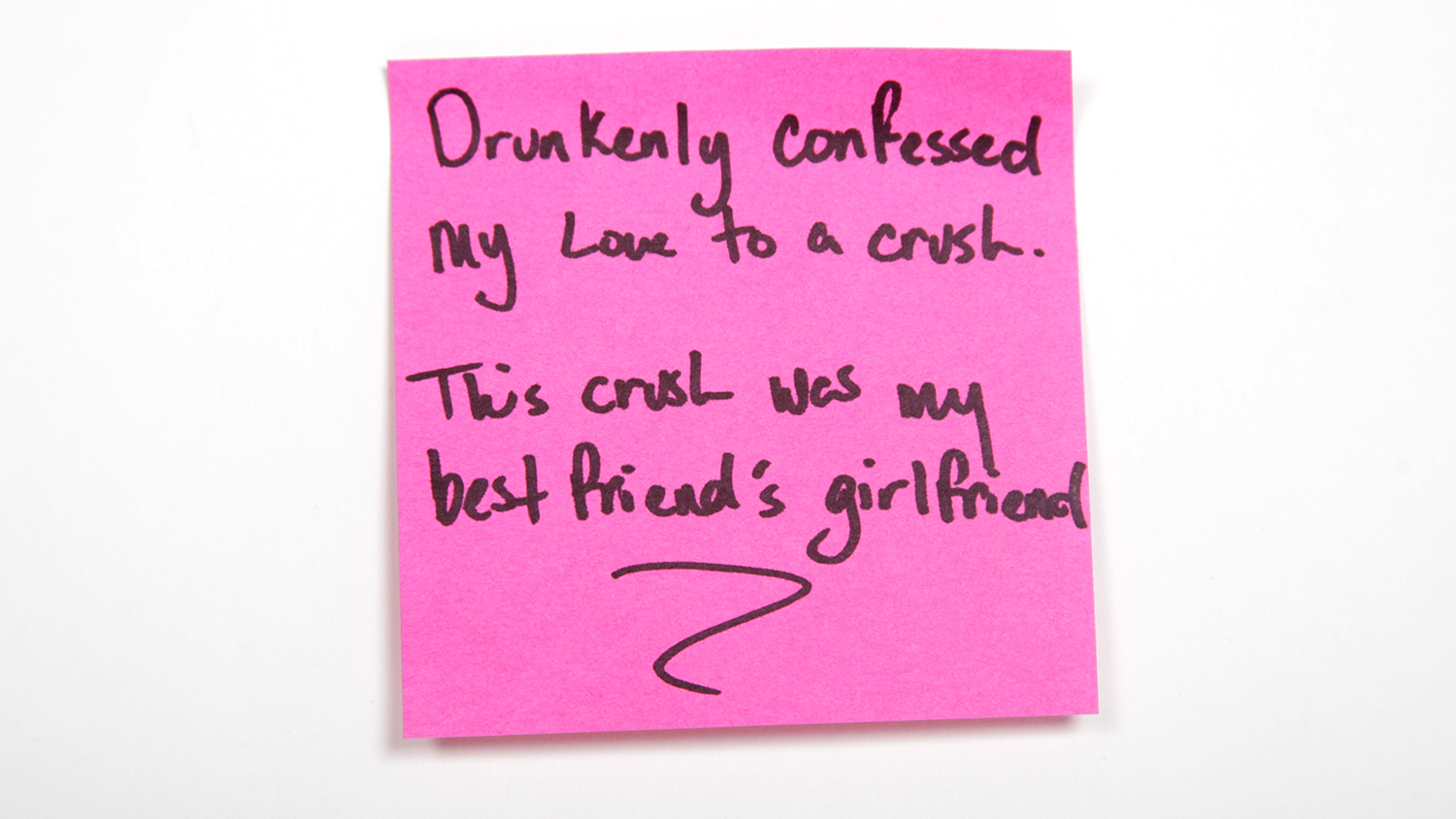 Sticky Notes Drunkenly Confused Love Crush