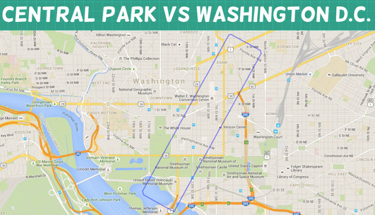These maps show just how big Central Park really is