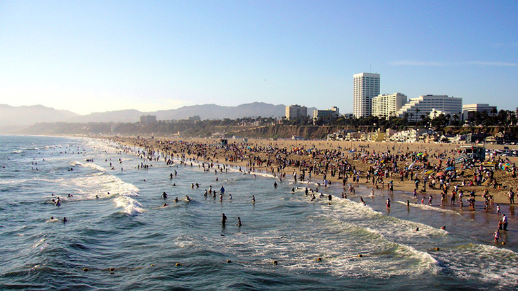 Spend a surfside afternoon in Santa Monica