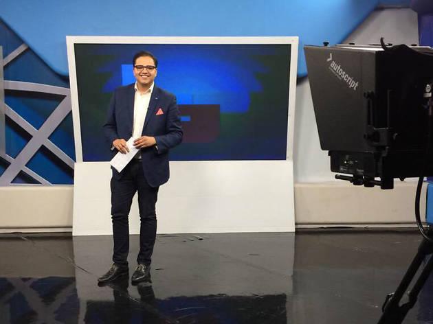 Javier Risco es locutor de 90.9, periodista y conductor de programas de TV