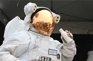 The Soylent astronaut at Outside Lands 2015.