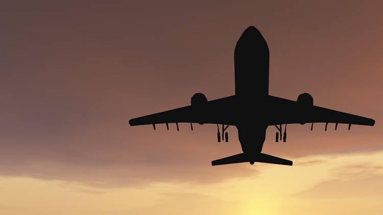 Avió despegant