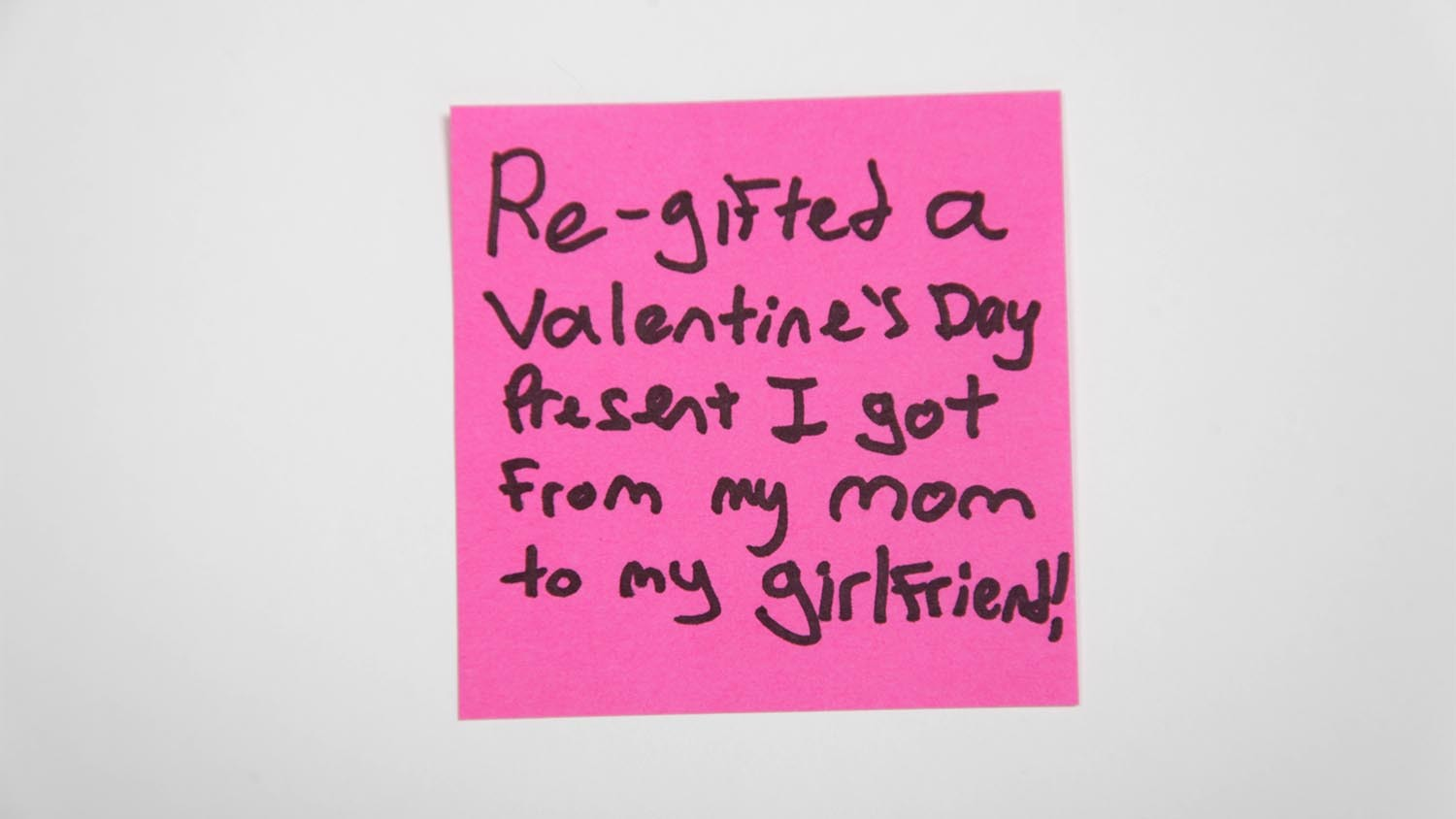 Sticky Note: Re-gifted
