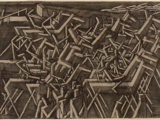 (David Bomberg: 'Racehorses', 1913. © the Estate of David Bomberg)
