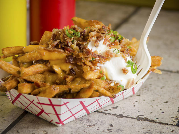 Loaded Fries at Edzo's Burger Shop ($5.50)
