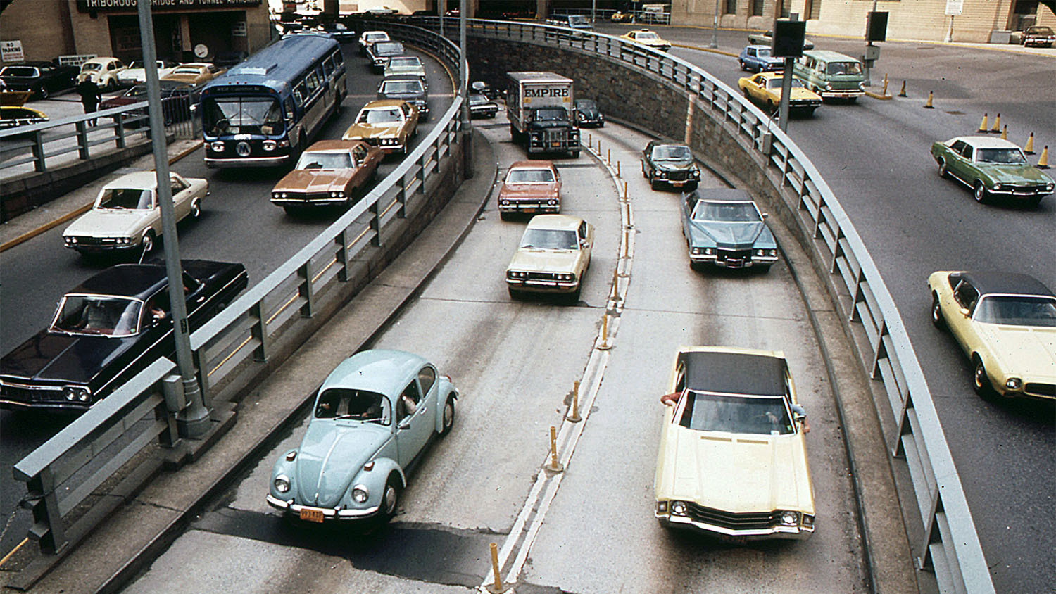 March 1973, Brooklyn Battery Tunnel traffic