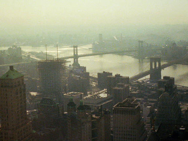 April 1975, the Brooklyn Bridge, Manhattan Bridge and the East River