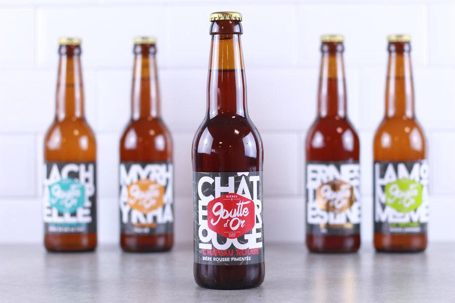 bière chateau rouge brasserie goutte d'or