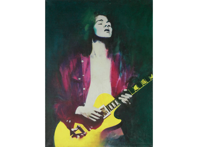 (Cornel Brudascu: 'Guitarist', 1970.  Photo: Szabolcs Feleky © Cornel Brudascu)