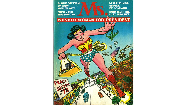 1972, Wonderwoman on the cover of Ms Magazine