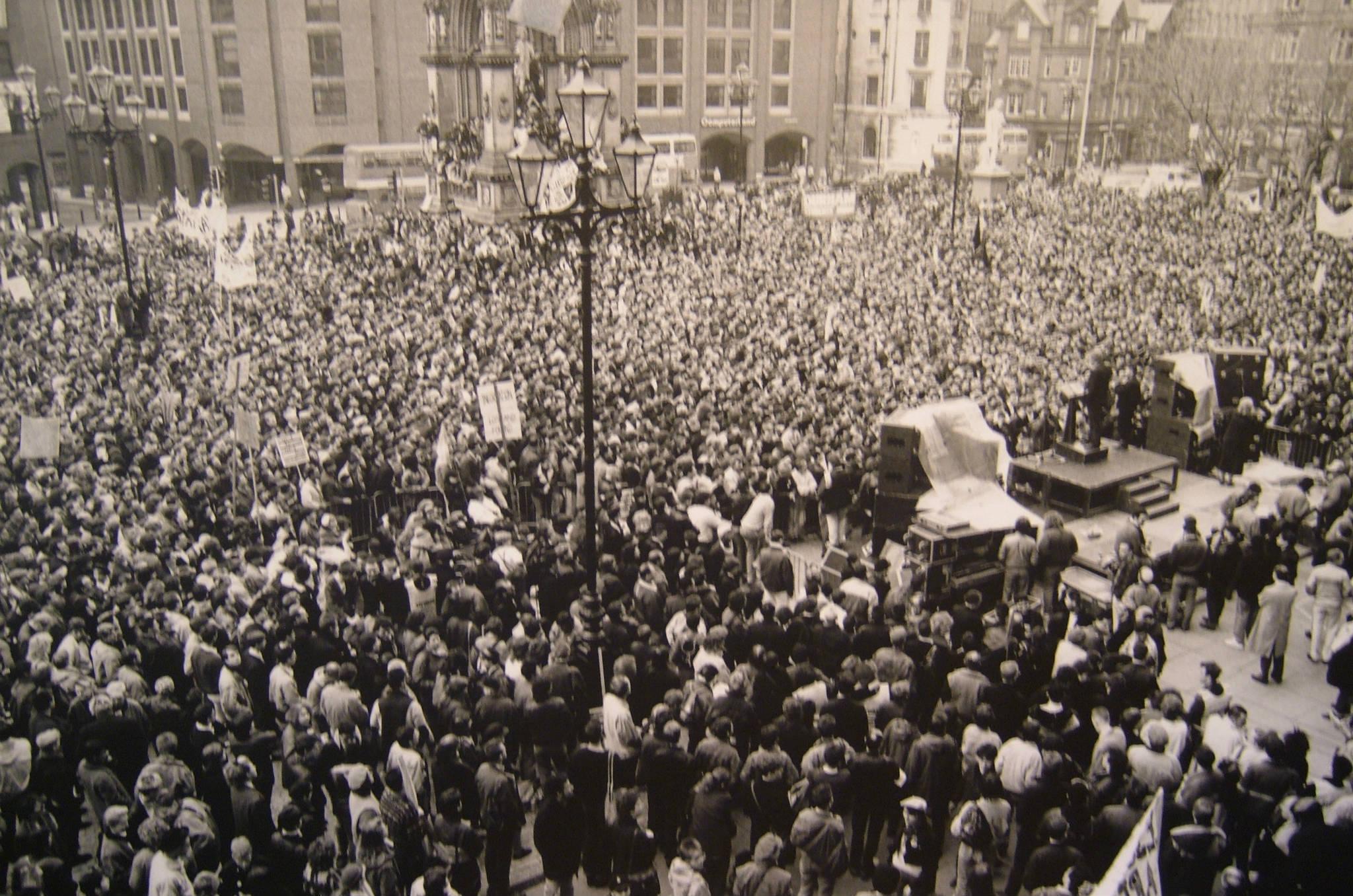 Albert Square Rally Feb 1988 LGBT