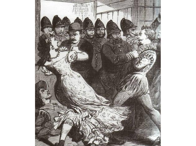 Drag Ball Hulme circi 1880 illustrated Police News