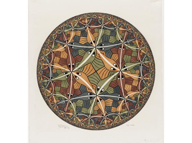 (MC Escher: 'Circle Limit III', 1959.  © The M.C. Escher Company BV -Baarn-the Netherlands)