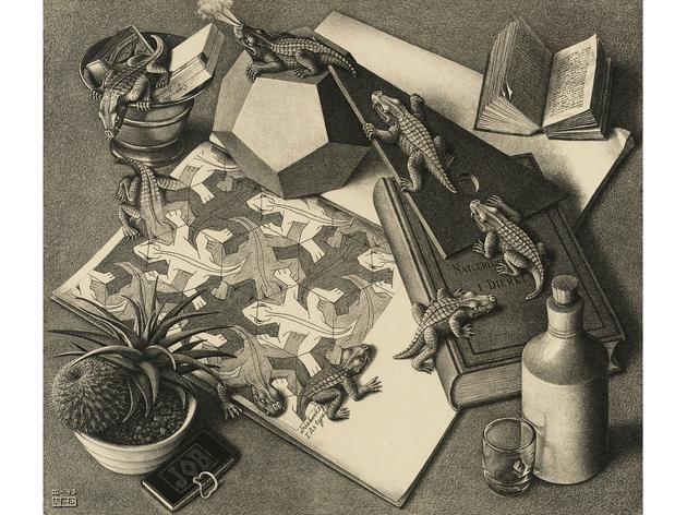 (MC Escher: 'Reptiles', 1943. © The M.C. Escher Company BV -Baarn-the Netherlands)