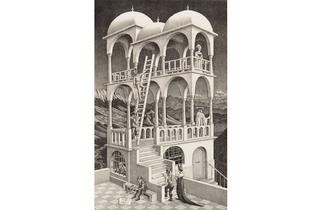 (MC Escher: 'Belvedere', 1958. © The M.C. Escher Company BV -Baarn-the Netherlands)