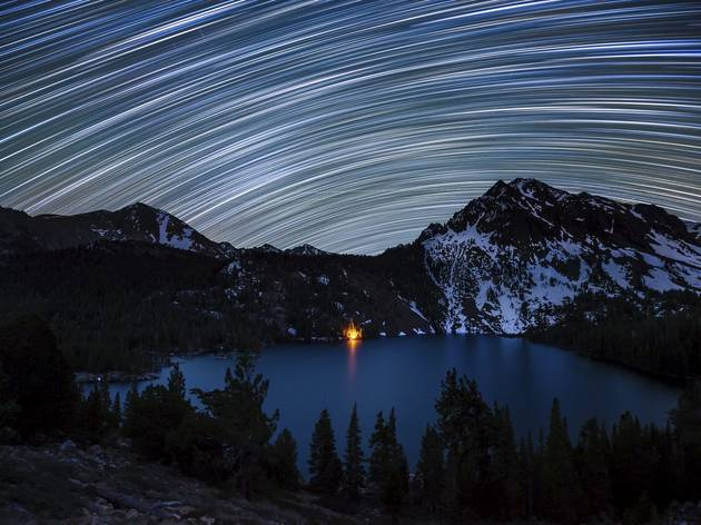 (Star Trails over Green Lake © Dan Barr)
