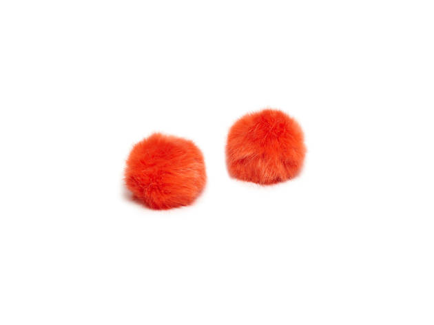 Orange Pom-Pom Shoe Clips, £29, Cleo B