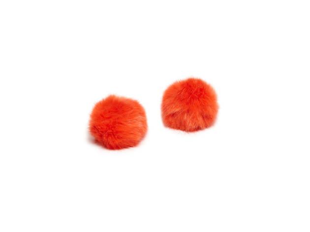 Orange Pom-Pom Shoe Clips, £29, Cleo B