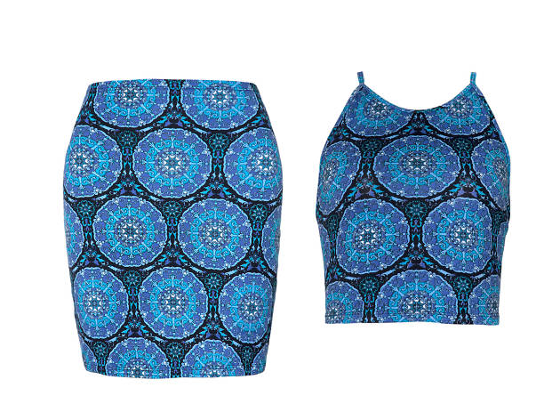 Mandala Crop and Skirt, £50 for the set, Motel