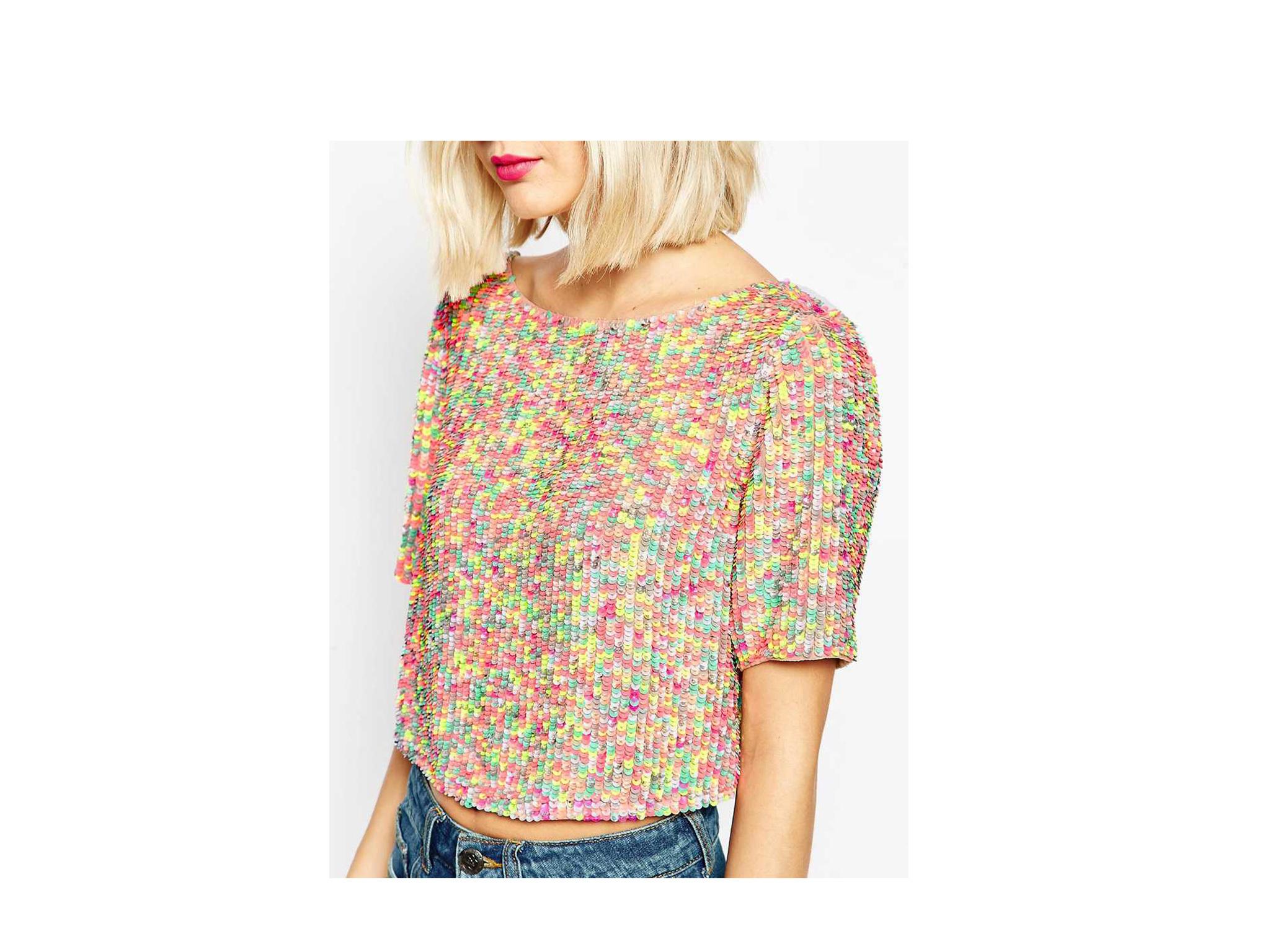 Sequin T-Shirt, £45, ASOS
