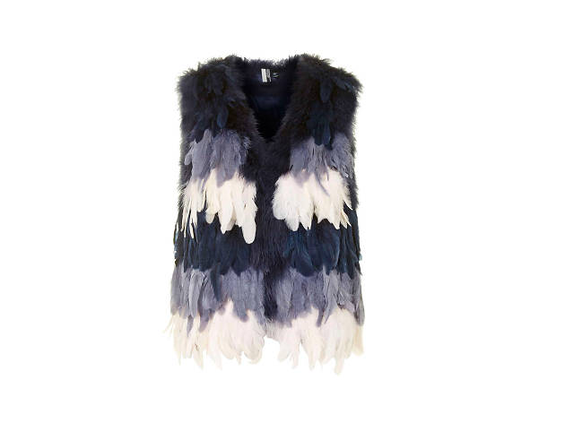 Feather Gilet, £95, Topshop