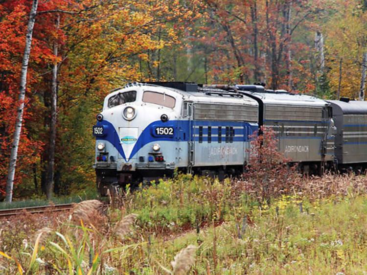 4.5 hours away: Adirondack Scenic Railroad's Fall Foliage Train