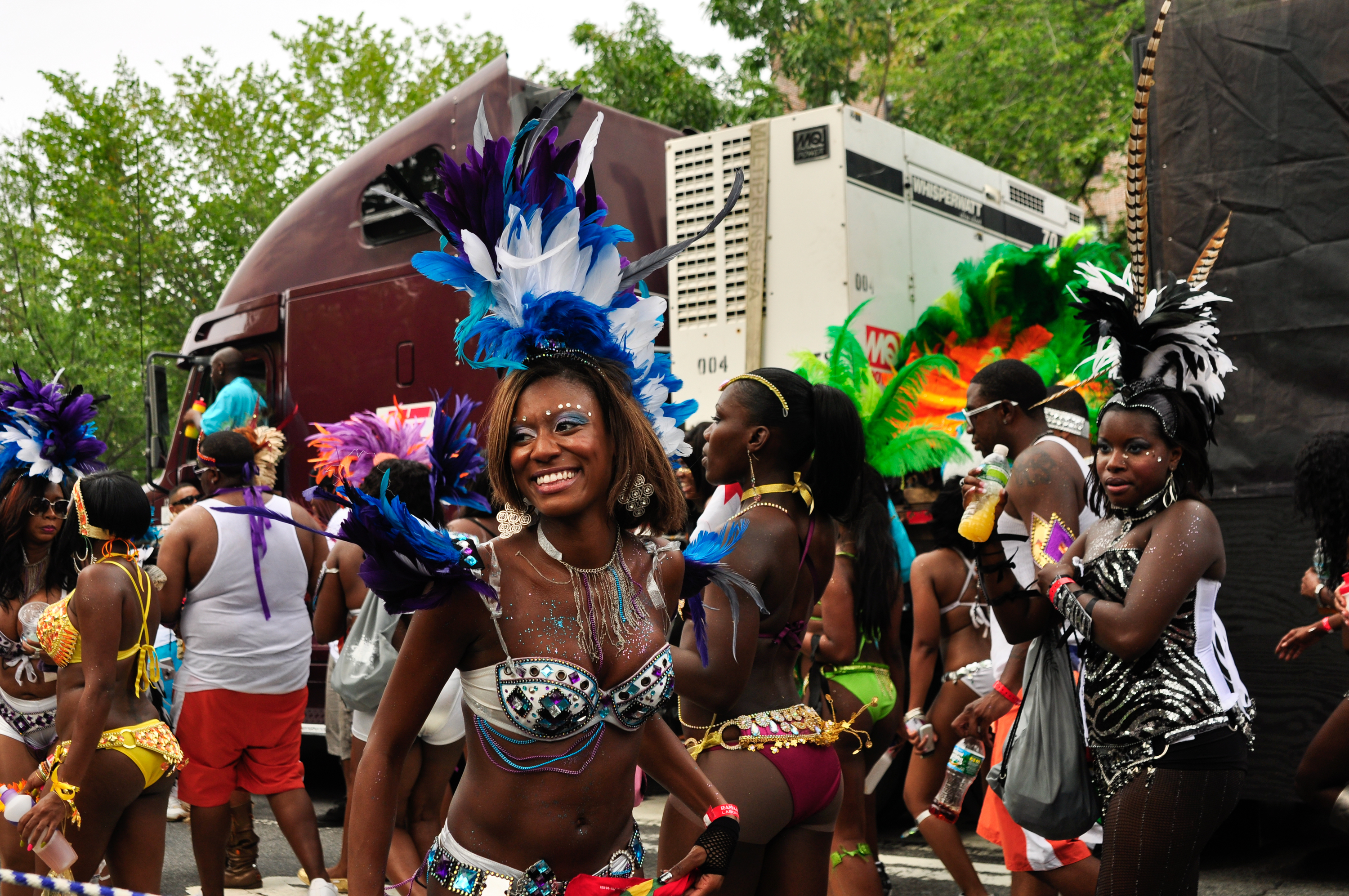 The West Indian–American Day Carnival 2013 marches down Eastern Parkway