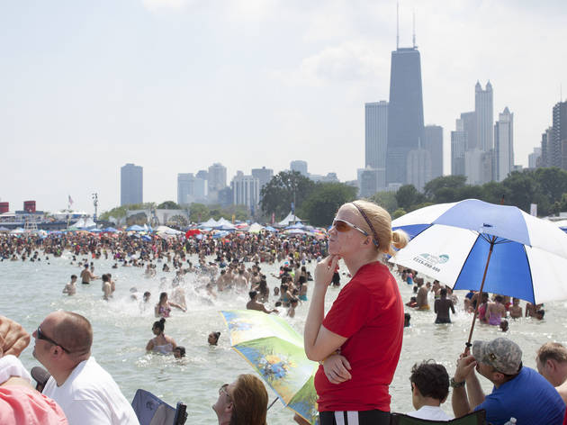 North Avenue Beach was the perfect place to watch aerial acrobatics at the Chicago Air and Water Show on August 15, 2015.