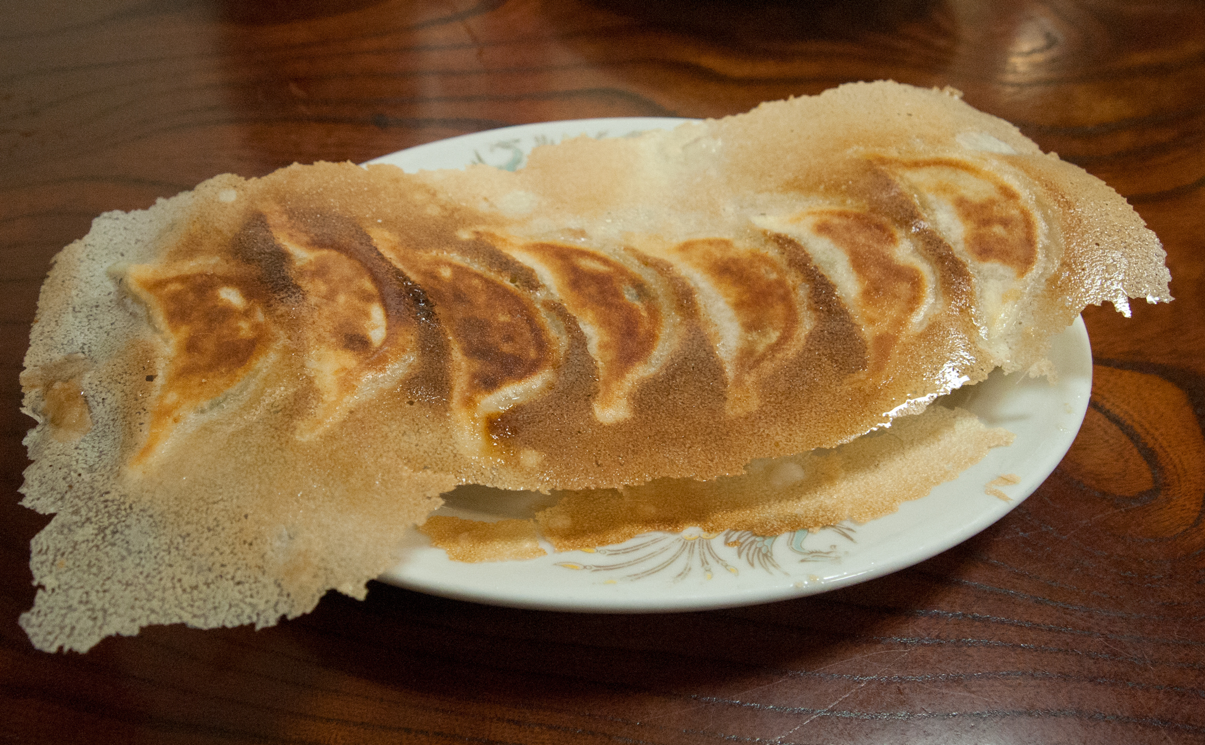 Snack on crispy 'winged gyoza' at Hoanyon