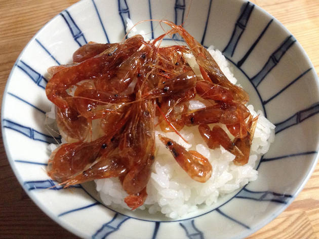 Tenyasu tsukudani with shrimp