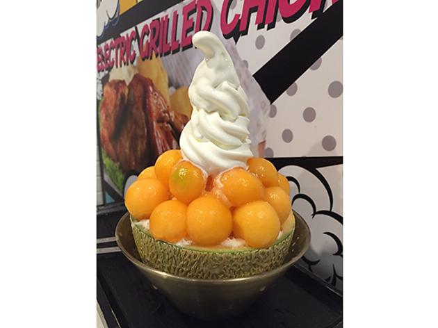 Snowman Desserts melon bingsu